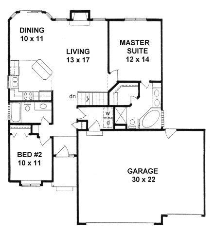 narrow lot house plans with basement plan 1112 ranch style small narrow lot house plan w 3
