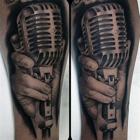 old fashioned microphone tattoo designs 90 microphone designs for manly vocal ink