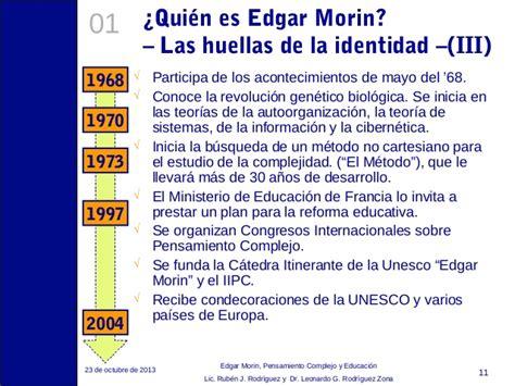 Resumen 7 Saberes De Edgar Morin by Edgar Morin Pensamiento Complejo Y Educaci 243 N