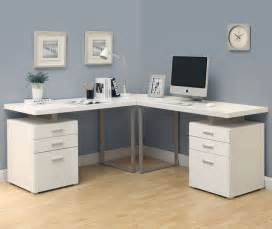 l shaped modern desk white 3pc hollow l shaped desk set in cappuccino