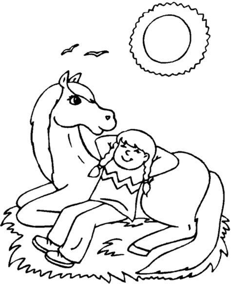 coloring pages of a horse with a girl free coloring pages of horses to print free coloring pages