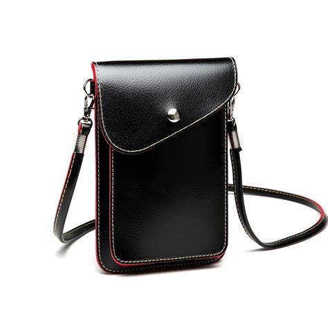 Fashion Slim Bag Jc805 e1805 pu leather slim mobile cross bag black