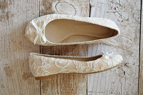 braut ballerinas ivory flache brautschuhe ballerinas spitze creme beige