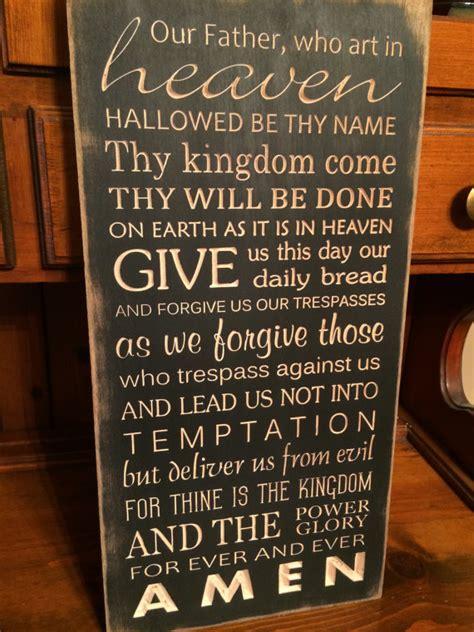 custom prayer custom carved wooden sign lord s prayer our