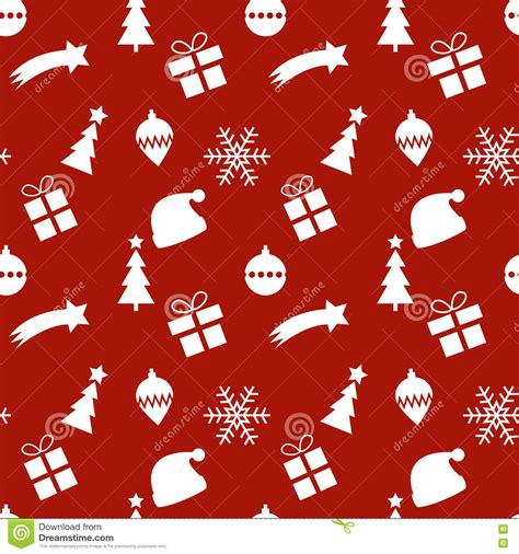 white xmas pattern seamless red and white christmas pattern stock