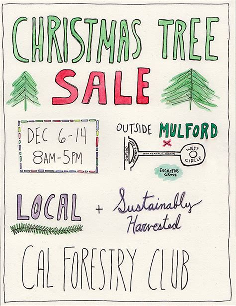 christmas trees for sales flyers gifts get in the spirit at uc berkeley berkeley news