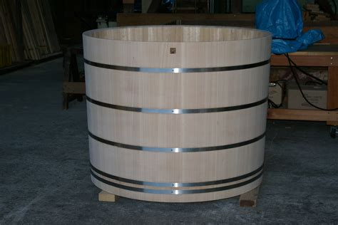 barrel bathtub ofuro soaking hot tubs round tub for long island