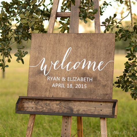 Wedding Welcome Sign by Welcome Wedding Sign Wooden Welcome Sign By