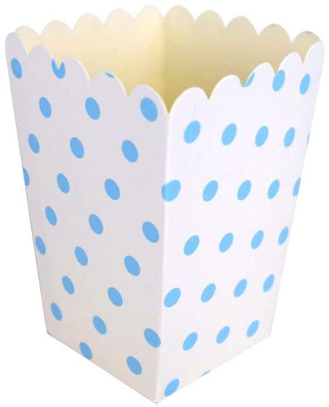Polka Blue Bergo Busui Ay popcorn boxes 12pcs polka dot baby blue
