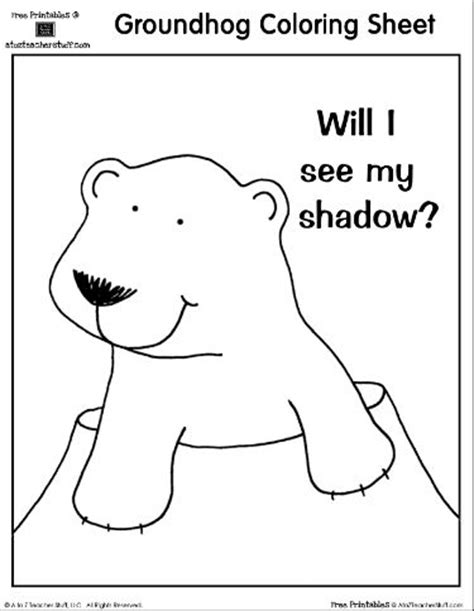 groundhog day sheet groundhog day coloring sheet will i see my shadow