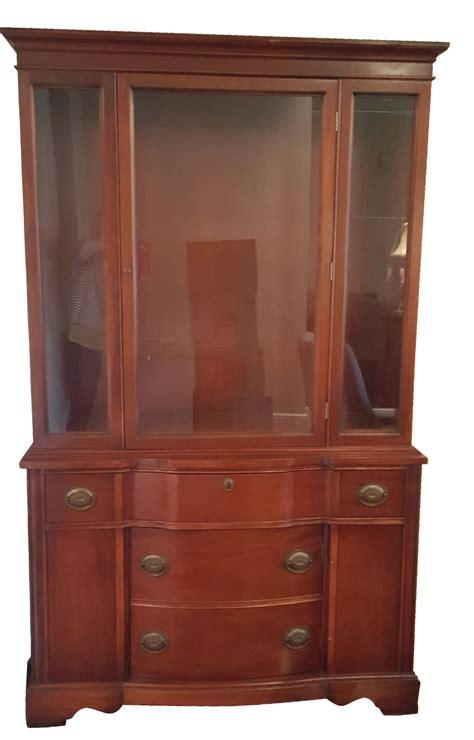 vintage cherry wood china cabinet antique cherry china cabinet chairish
