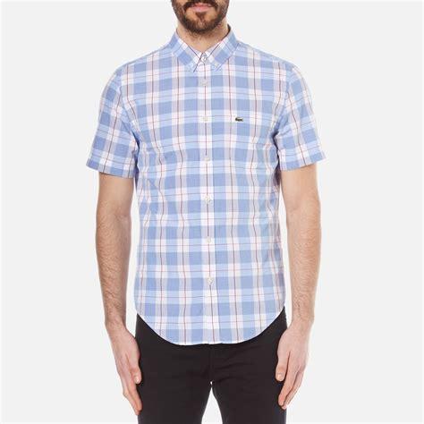 sleeve check shirt yege lacoste s sleeve check shirt methylene flower