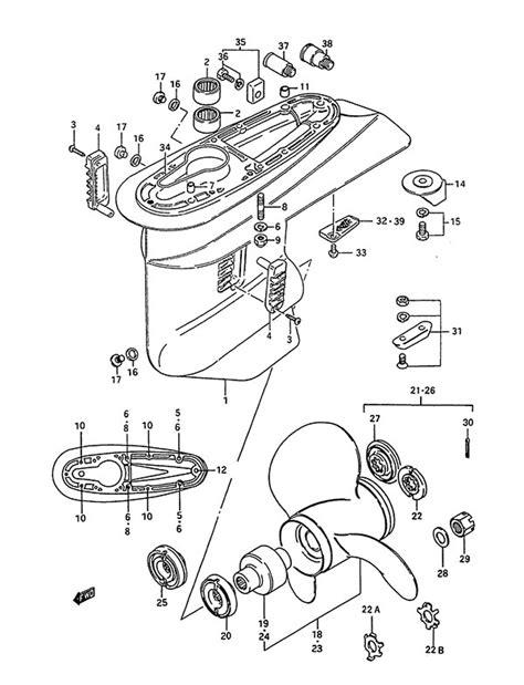 fig 25 gear suzuki dt 85 parts listings 1988