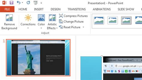 How To Insert Screenshots In Powerpoint 2013 Free Powerpoint Templates How To Insert Template In Powerpoint