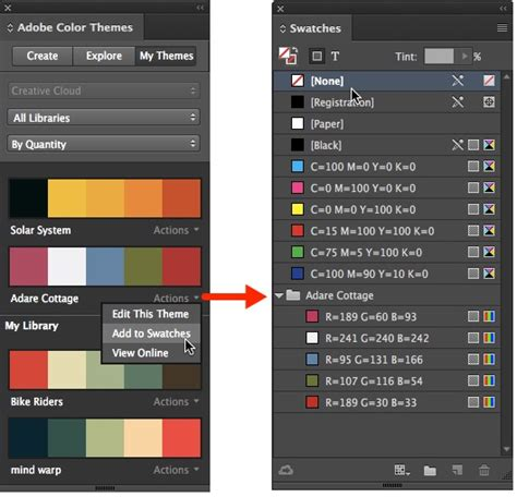indesign s colour theme tool how to create a colour palette from a photo using adobe