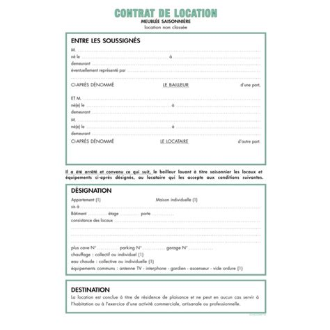 modele bail meuble document