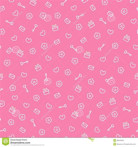 cute valentine pattern cute seamless valentine pattern royalty free stock image