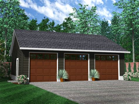 Detached 3 Car Garage Plans by Detached Garages
