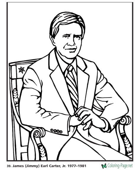 us presidents coloring pages jimmy carter
