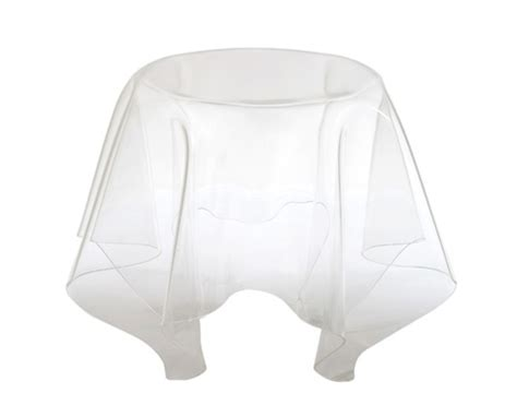drape table sleek sexy acrylic furniture by spectrum west six