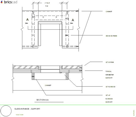 Corian Details How To Install A Slide In Range Aia Cad Details Zipped