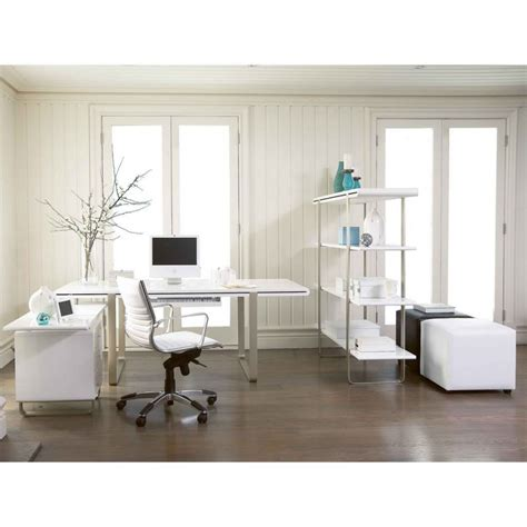 interior design for home office vintage home office interior design with l shape white desk table storage and brown rug on