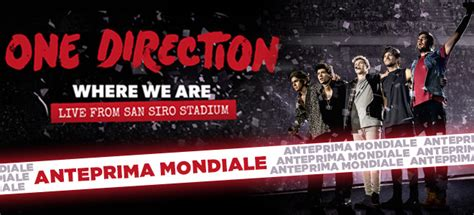 Where We Are 1d 1d where we are live from san siro in anteprima mondiale al team world store a team world