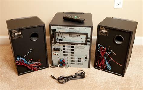 panasonic 5 cd bookshelf stereo system sa ak25 ebay