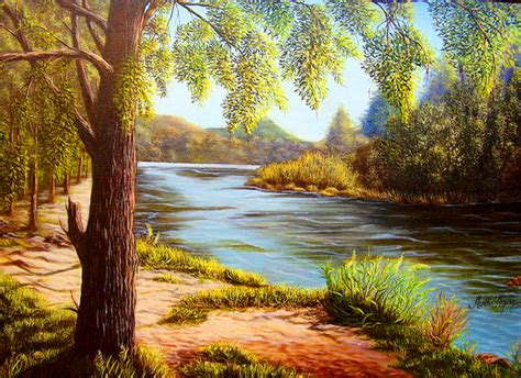imagenes de paisajes oleo cuadros modernos paisajes al oleo