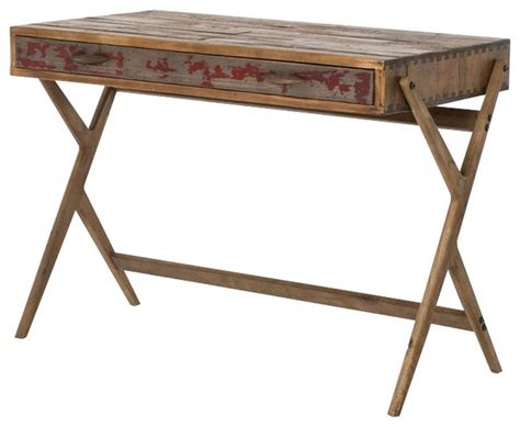 mid century reclaimed pine home office desk rustic