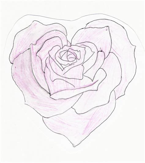 heart shaped rose tattoo shaped by feeohnah on deviantart