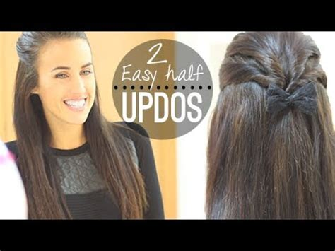 cute casual hairstyles youtube easy half updos for everyday youtube