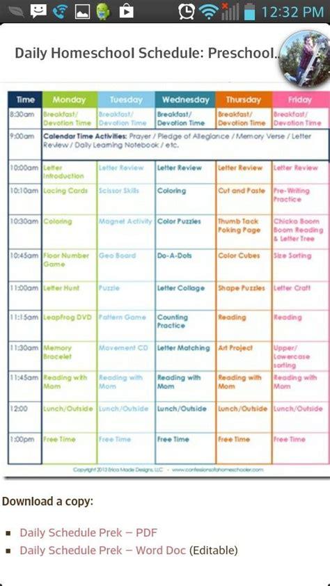 preschool preschool schedule and homeschool on pinterest
