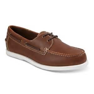 merona shoes mens s milo boat shoes brown merona target