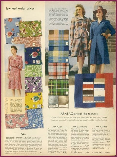 Dompet Fashion Ii 1 sears catalog summer 1943 fabric i vintage sewing patterns