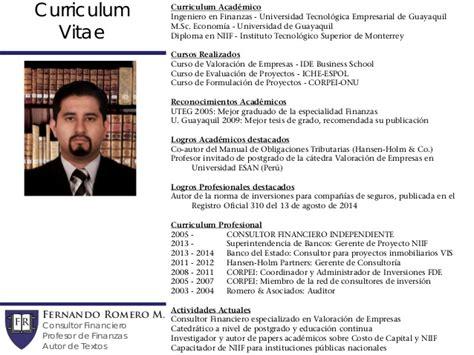 Ejemplo Curriculum Vitae Financiero Contabilidad Avanzada 4 Instrumentos Financieros