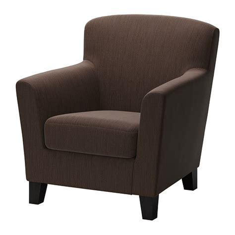 brown fabric armchair eken 196 s armchair hensta dark brown ikea