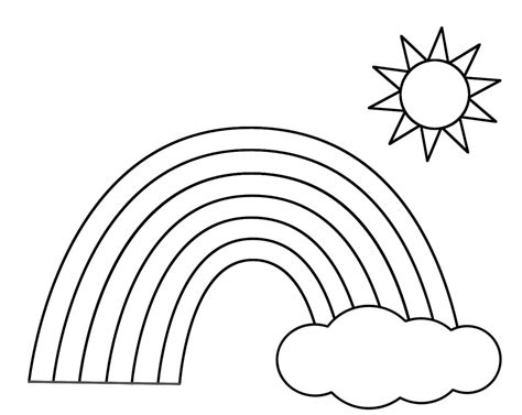 Coloring Pages Rainbow by Rainbow Coloring Page Sketch Coloring Page