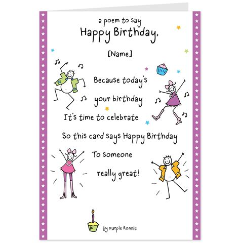 Poem For S Birthday Card 556 Images Rhyming Birthday Wishes Birthday Poems