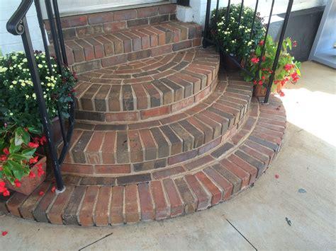 brick steps  entry brick steps porch stairs