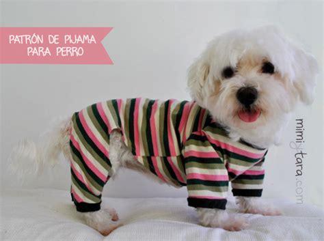 mimi y tara patrones de ropa para perros patr 243 n de pijama para perro talla m mimi y tara