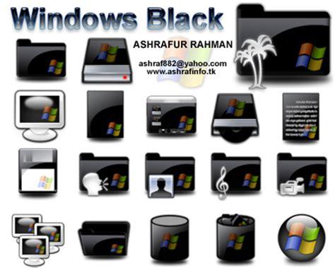 iconos para escritorio windows 7 iconos negros de escritorio para windows