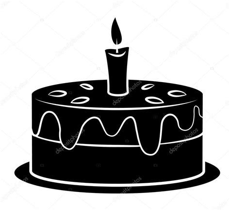 imagenes para cumpleaños blanco y negro negro silhoutte de pastel de cumplea 241 os vector de stock