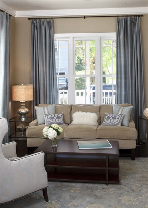 Traditional Living Room Color Schemes by Adventures In Creating Sofa In Front Of A Window