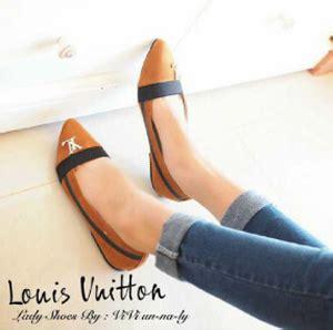 Sepatu Wanita Flat Model Baru Barang Import Cantik Murah 1 sepatu teplek wanita quot flat shoes lv quot model terbaru murah