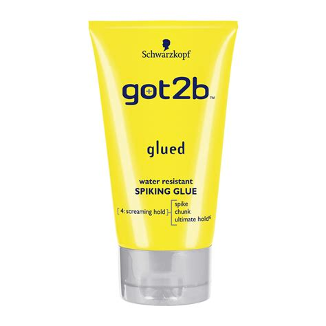 best spiking gel schwarzkopf got2be spiking glue glued 150ml at wilko com