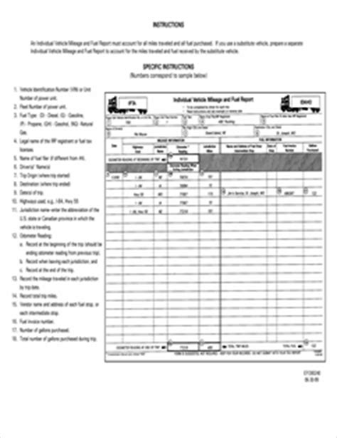 Ifta Mileage Report Template Rachael Edwards Ifta Trip Sheet Template