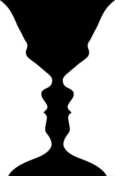 Two Faces Or A Vase by Optical Illusion Vase Or