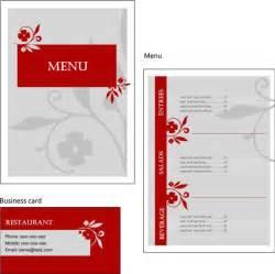 レストランやカフェに最適 おしゃれなメニュー用テンプレート eps free style