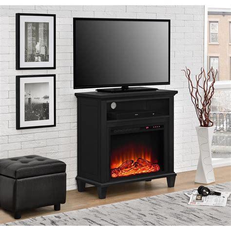 Fireplace Tv Stand Home Depot by Altra Furniture Ellington Black Entertainment Center